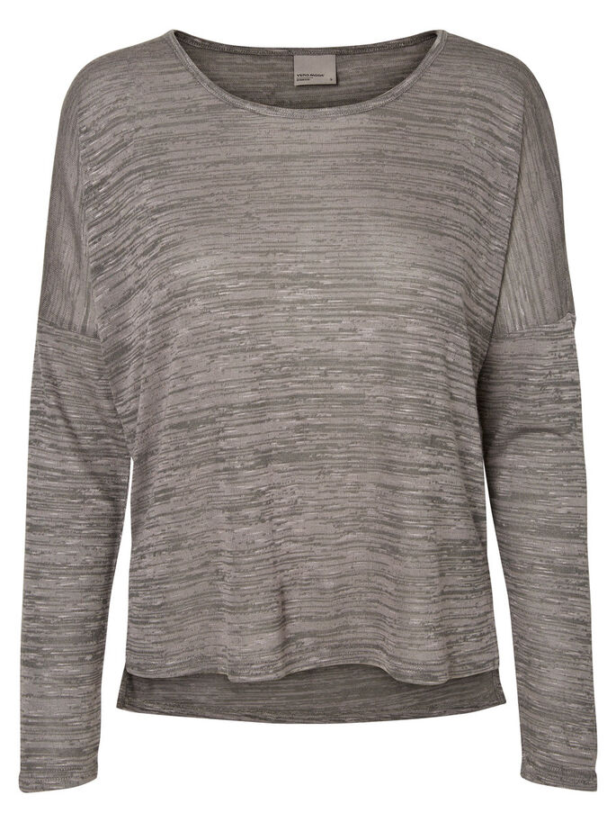 CASUAL LONG SLEEVED BLOUSE, Smoked Pearl, large