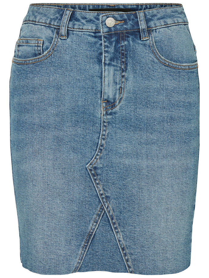 HW DENIMNEDERDEL, Medium Blue Denim, large