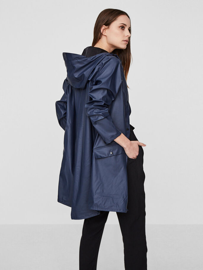SUNDAY RAIN JACKET, Navy Blazer, large