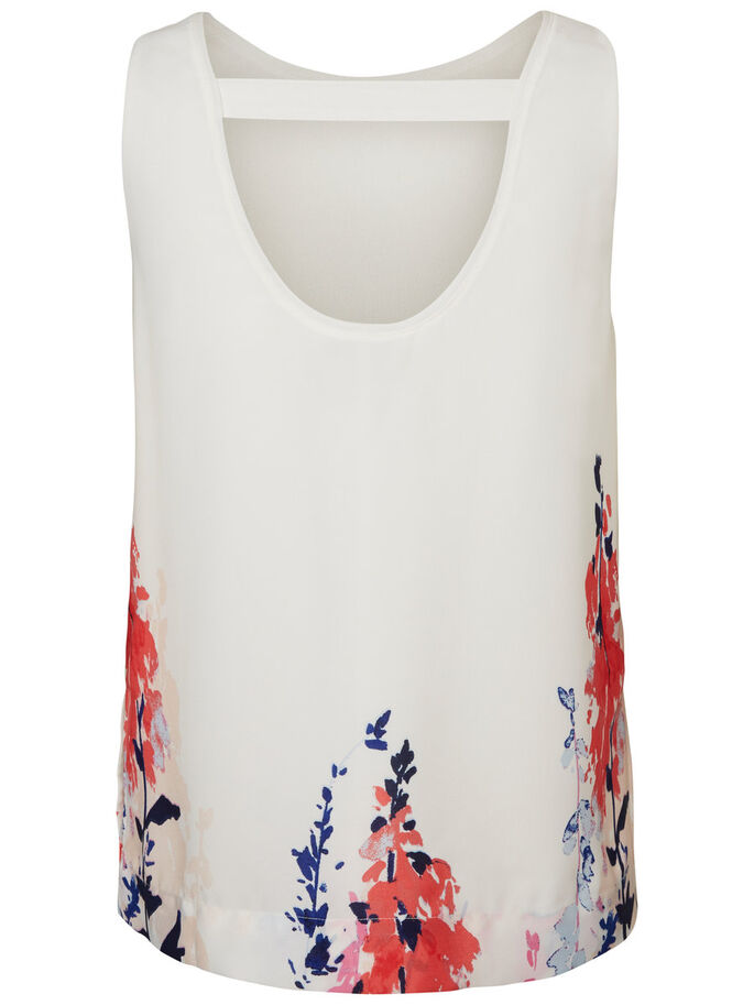 FLOWER SLEEVELESS TOP, Snow White, large