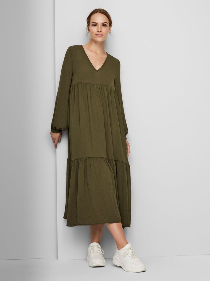 LOOSE FIT MIDI DRESS, Ivy Green, large
