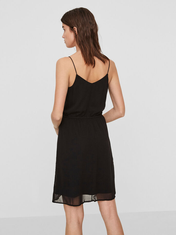 SUMMER SLEEVELESS DRESS, Black, large