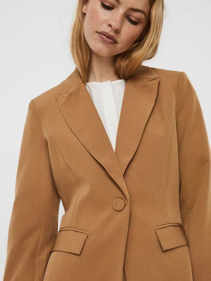 LONG SLEEVED BLAZER, Tigers Eye, large