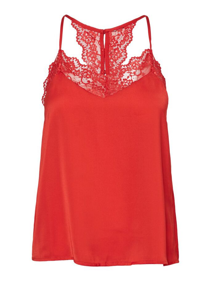 LAVE SINGLET TOP, Goji Berry, large