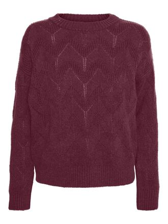 O-NECK STRUCTURE KNITTED PULLOVER