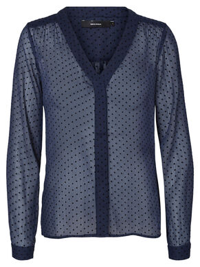 DOTTED LONG SLEEVED SHIRT