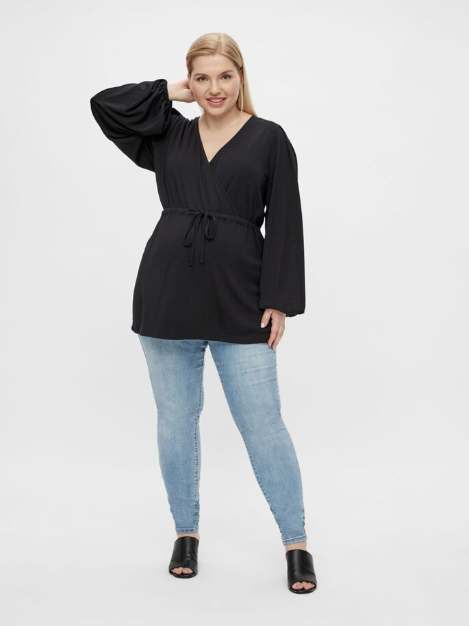 MLPICAS CURVE 2-IN-1 MATERNITY TOP, Black, large
