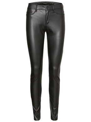 SEVEN NW LEATHER-LOOK TROUSERS