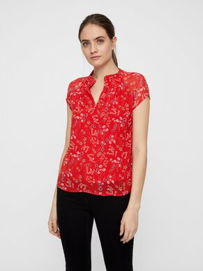 1e48b4805726 FLORAL SHORT SLEEVED TOP