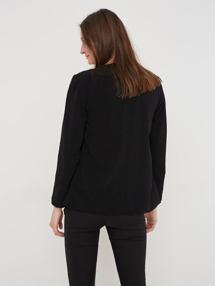 FEMININE BLAZER, Black, large
