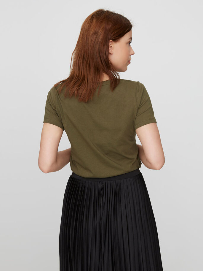 DETAILED SHORT SLEEVED TOP, Ivy Green, large