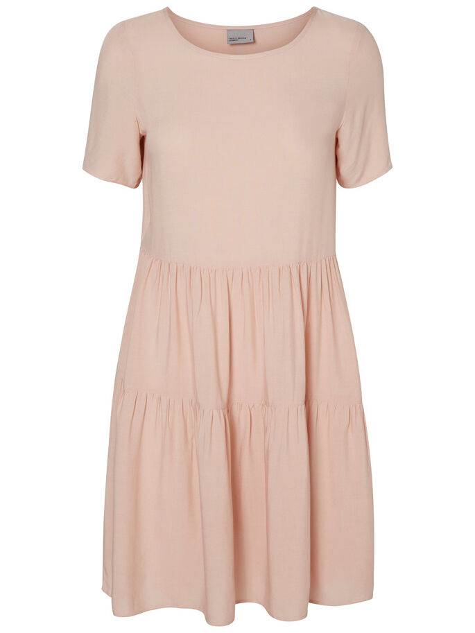 CASUAL SHORT SLEEVED DRESS, Rose Dust, large
