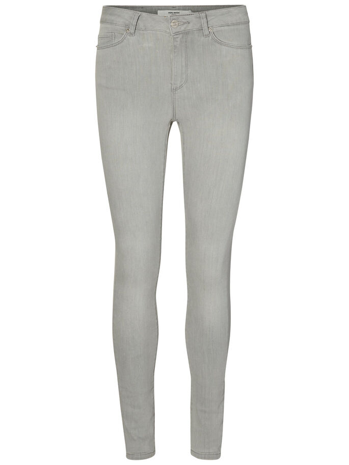 SEVEN NW SKINNY FIT JEANS, Light Grey Denim, large