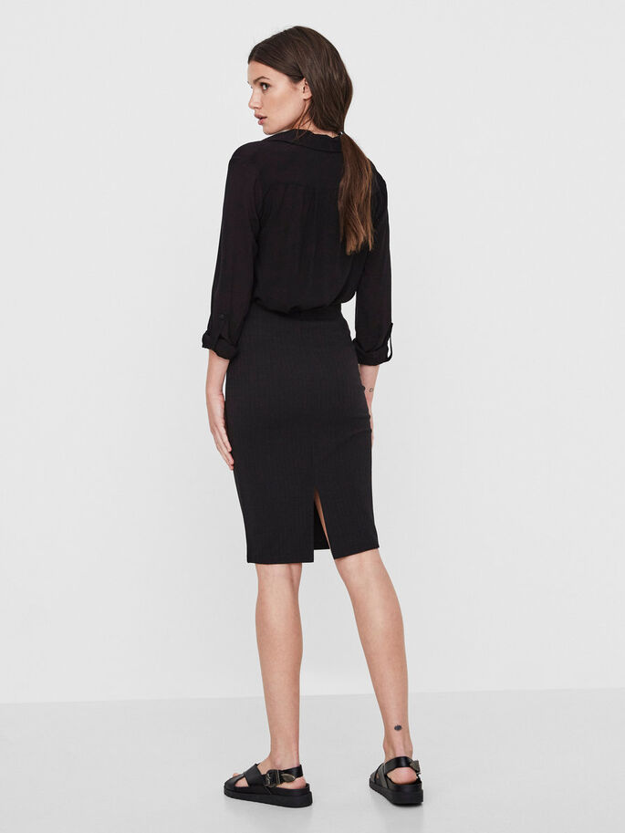 TIGHT FIT PENCIL SKIRT, Black, large
