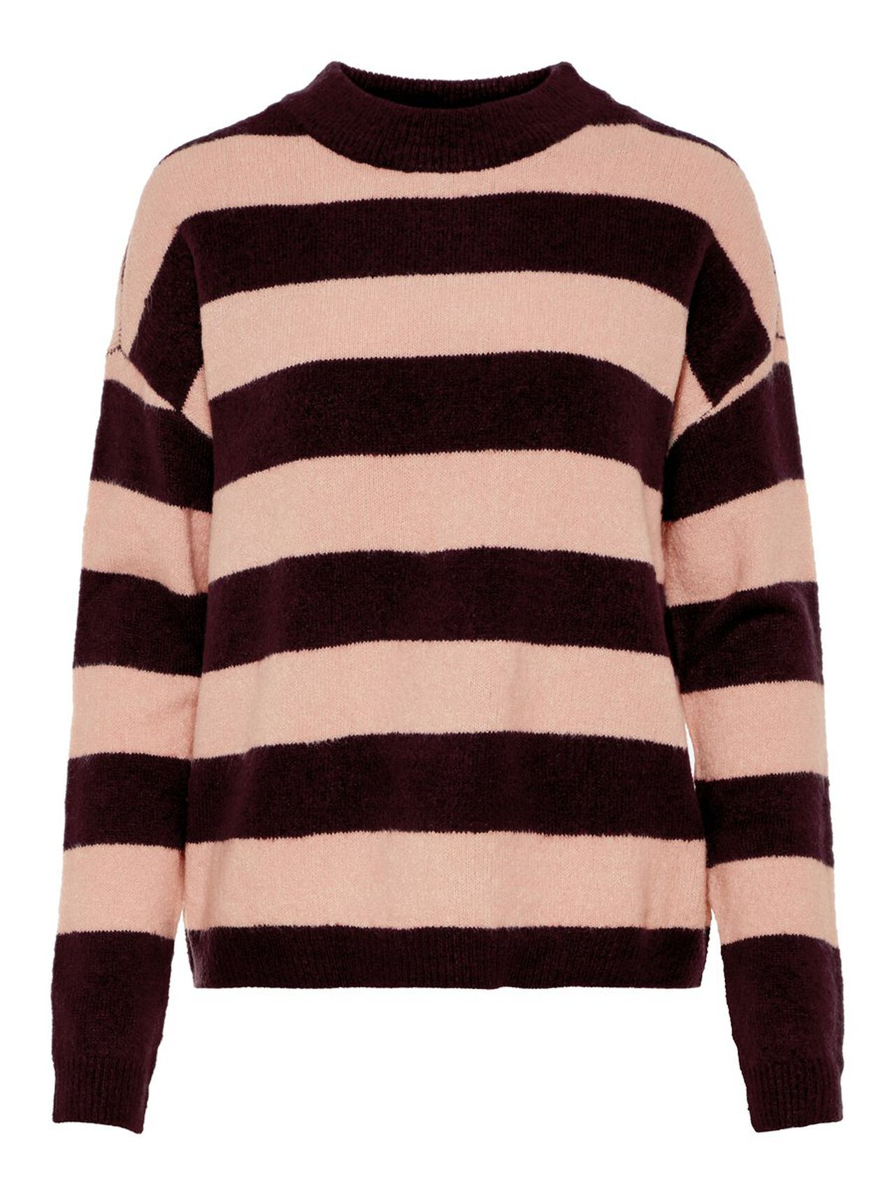 Striped Knitted Pullover Women purple