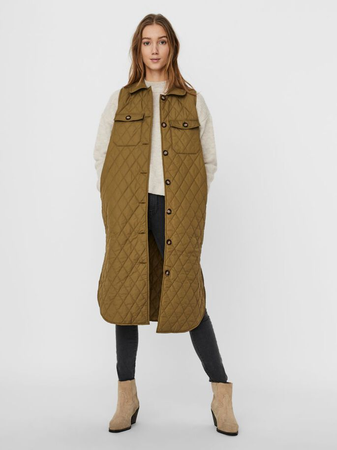 QUILTED VEST, Lizard, large