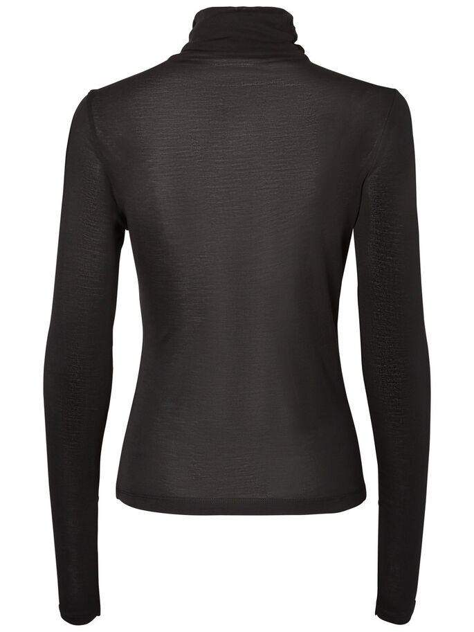 AWARE LONG SLEEVED BLOUSE, Black, large