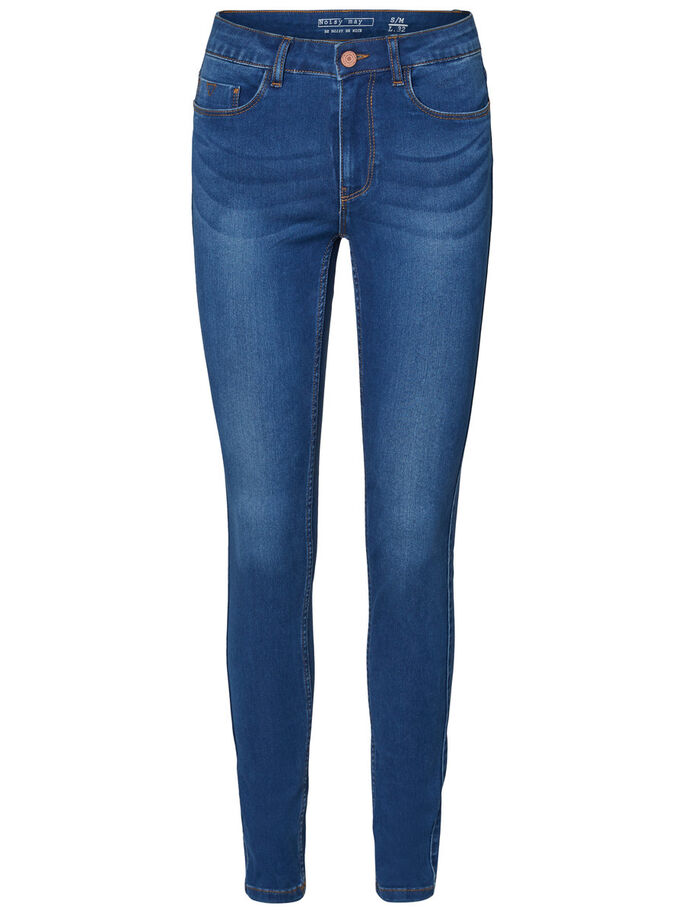 EXTREEM ZACHTE NW SKINNY JEANS, Medium Blue Denim, large