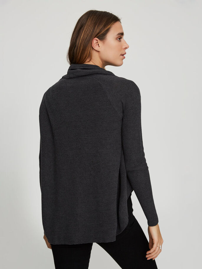 COURT CARDIGAN, Dark Grey Melange, large