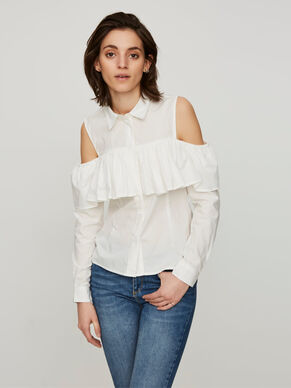 COLD SHOULDER LONG SLEEVED SHIRT