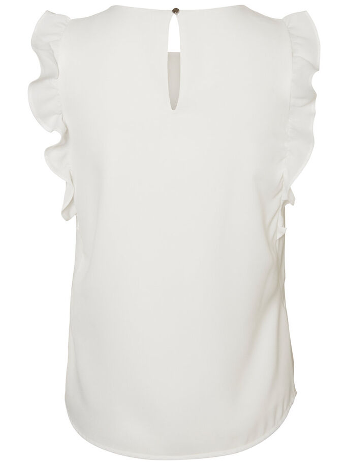 FRILL SLEEVELESS TOP, Snow White, large