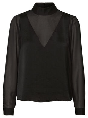MESH LONG SLEEVED TOP