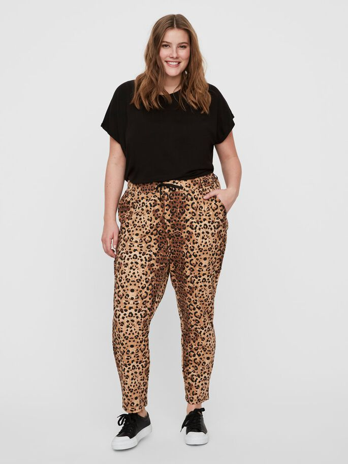 PRINTED TROUSERS, Sand, large