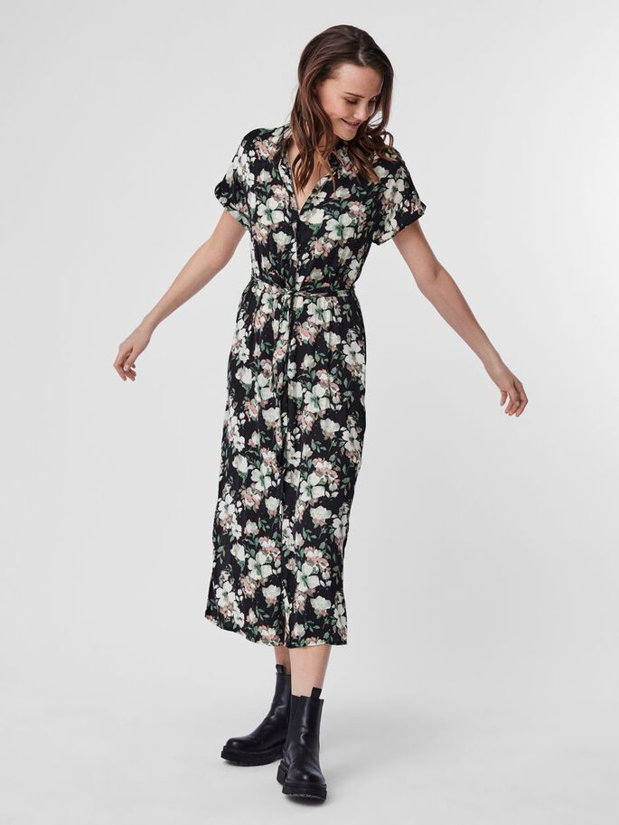PRINTED MAXI DRESS, Laurel Wreath, large