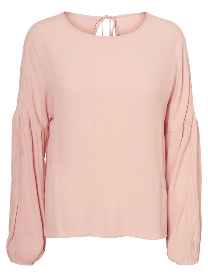 FEMININE LONG SLEEVED BLOUSE, Rose Cloud, large
