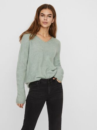 V-NECK KNITTED PULLOVER