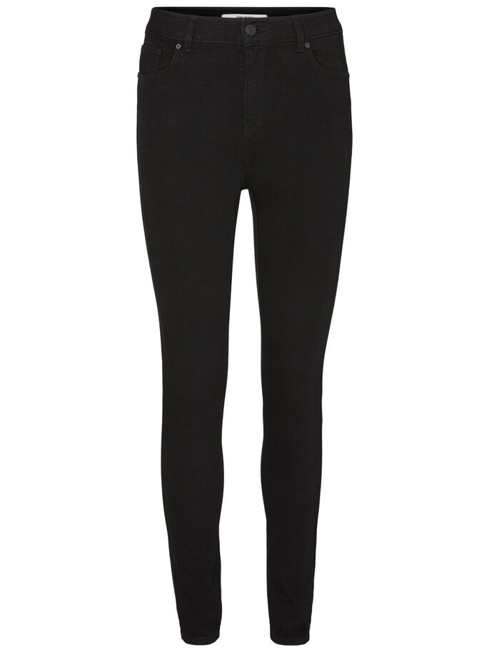 NINE HW SUPER SKINNY FIT JEANS, Black, large