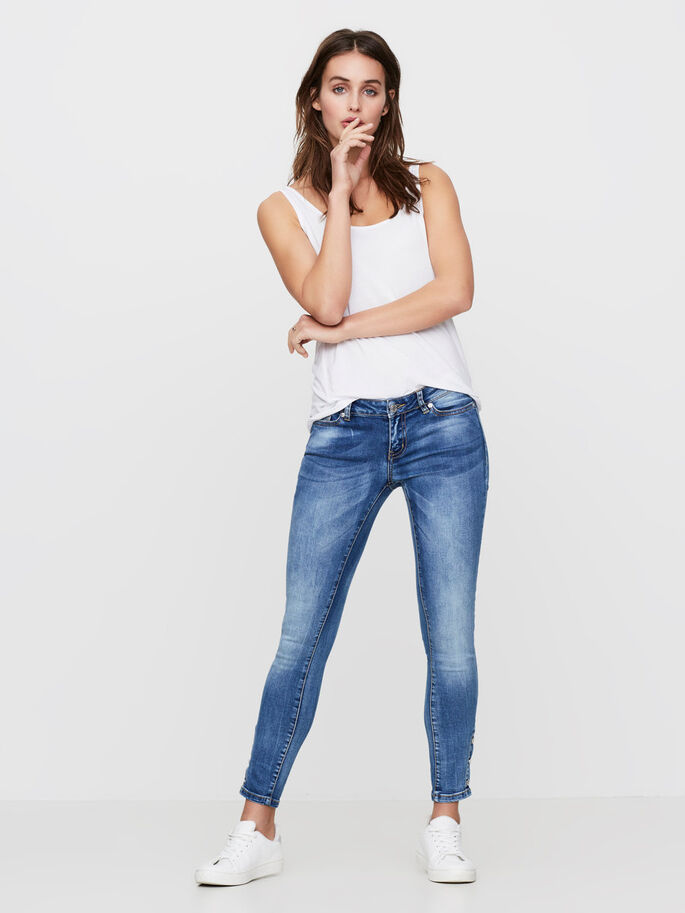 EVE LW ANKLE SKINNY FIT JEANS, Medium Blue Denim, large