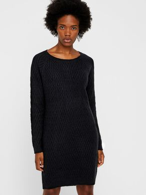 LONG SLEEVED KNITTED DRESS