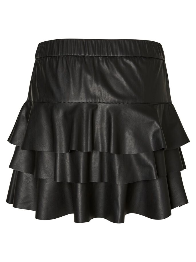 LEATHER-LOOK SKIRT, Black Beauty, large