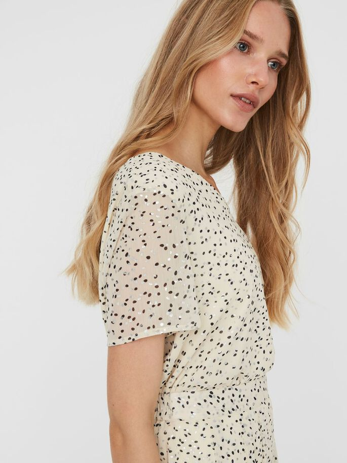 PRINTED SHORT SLEEVED TOP, Birch, large