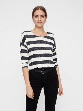 aac909f3448 STRIPED 3 4 SLEEVED BLOUSE
