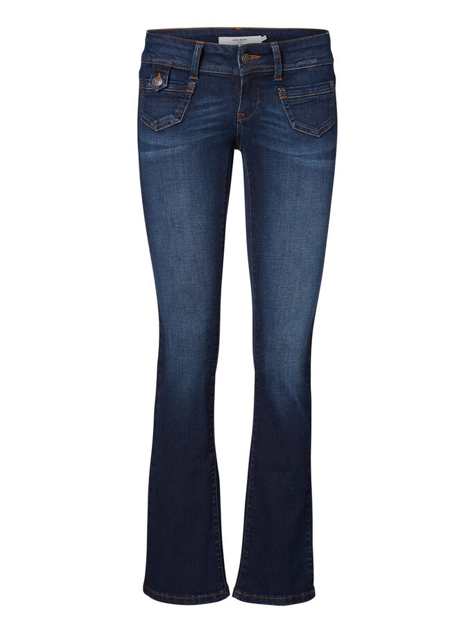 DINA LW BOOTCUT JEANS, Dark Blue Denim, large
