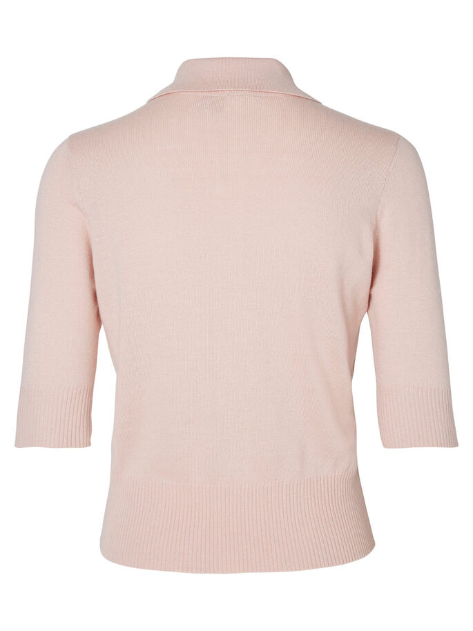 KORTE MOUW POLO BLOUSE, Peach Whip, large