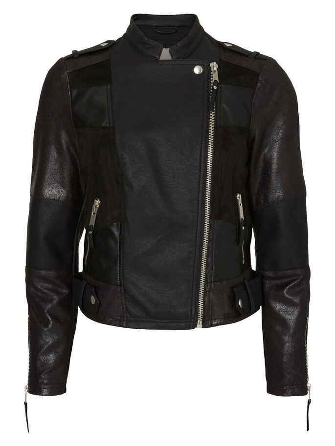 MOTARD VESTE, Black, large
