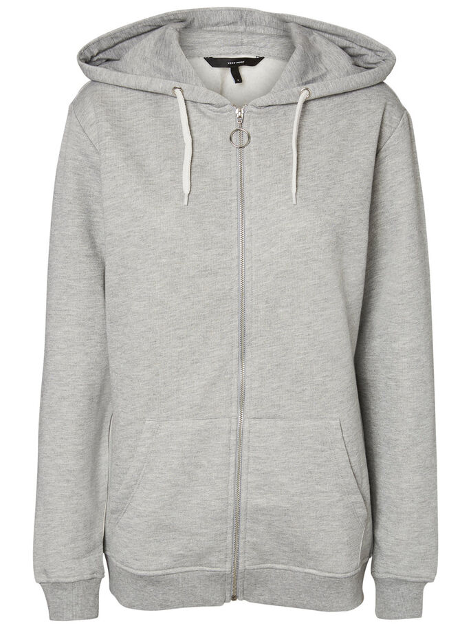 LÄSSIGES SWEATSHIRT, Light Grey Melange, large