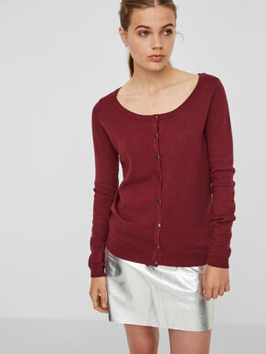 PLAIN O-NECK CARDIGAN