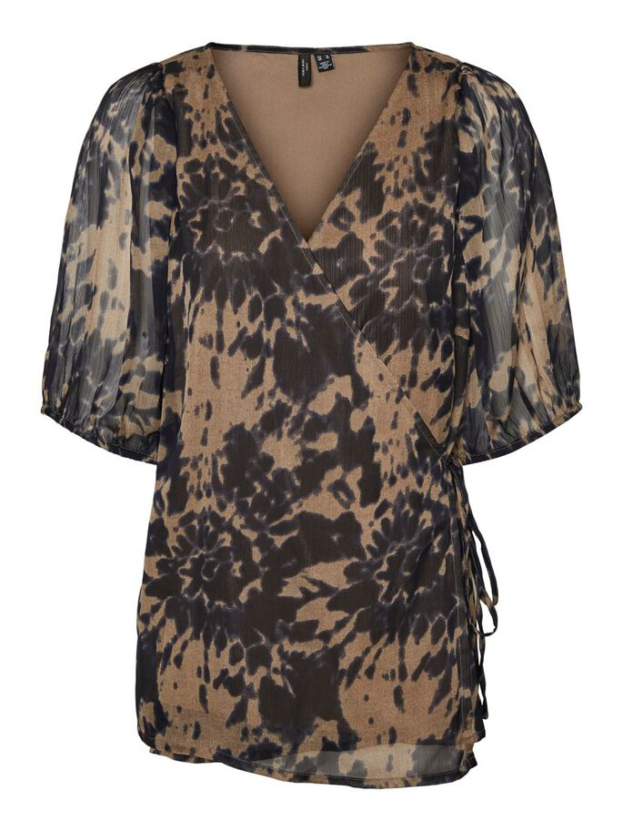 WRAP BLOUSE, Fossil, large