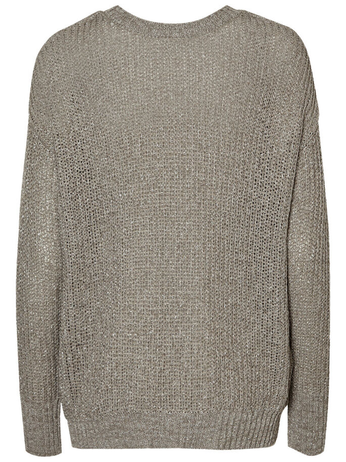 AWARE PULL EN MAILLE, Medium Grey Melange, large