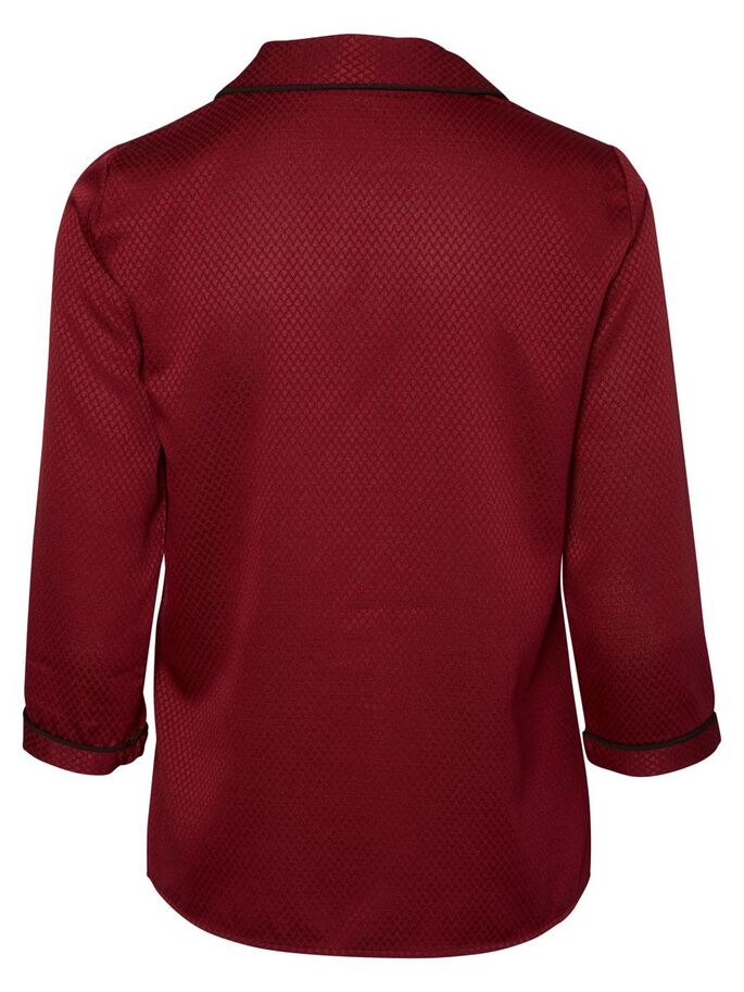 3/4 SLEEVED SHIRT, Zinfandel, large