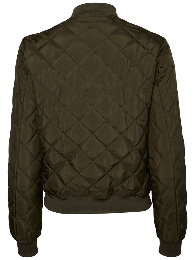 SHORT QUILTED JACKET, Peat, large