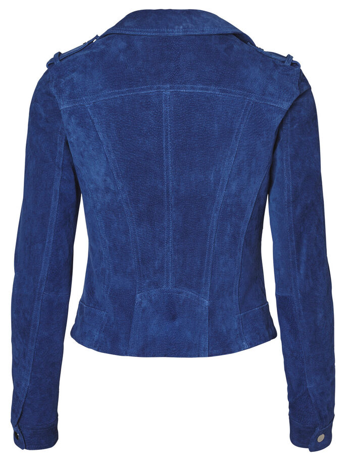 SUEDE JACKET, Mazarine Blue, large