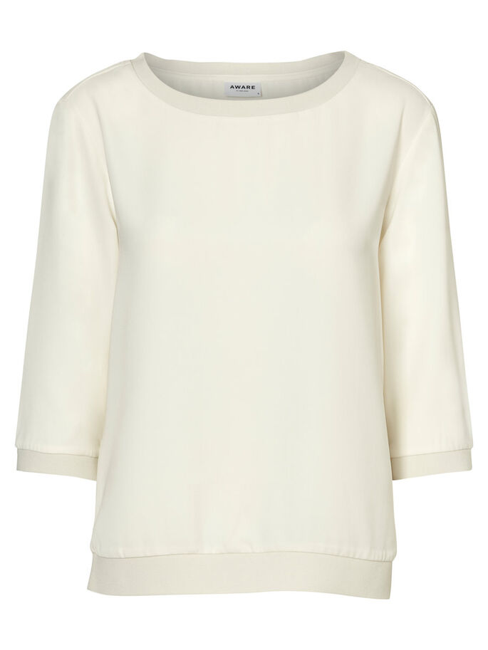 AWARE BLOUSE MANCHES 3/4, Eggnog, large