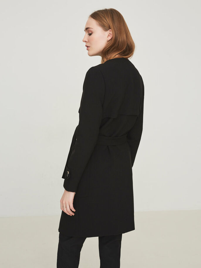 LONG JACKET, Black, large