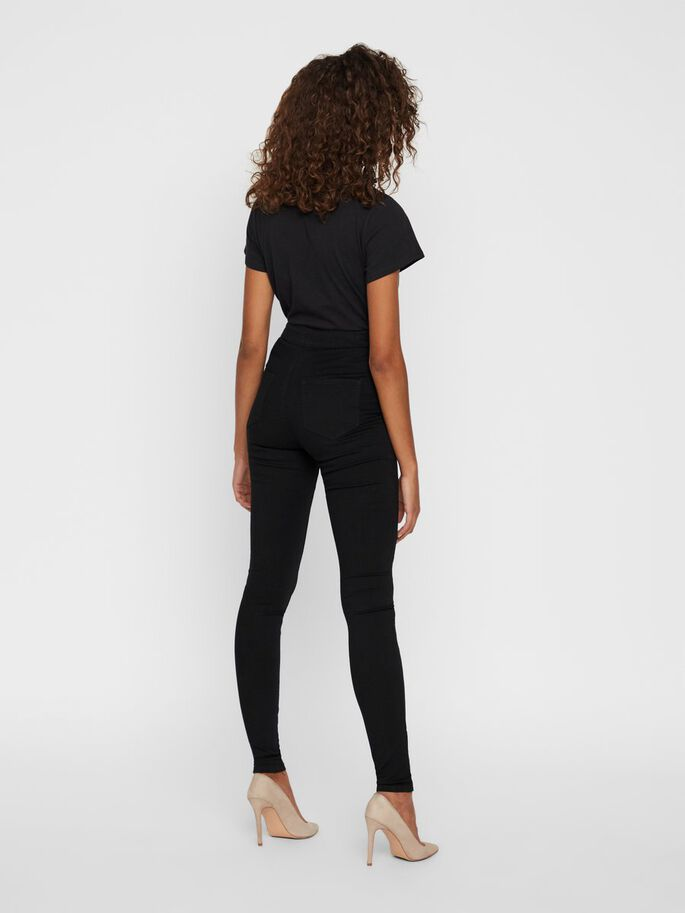 ELLA HW SUPER SKINNY FIT JEANS, Black, large