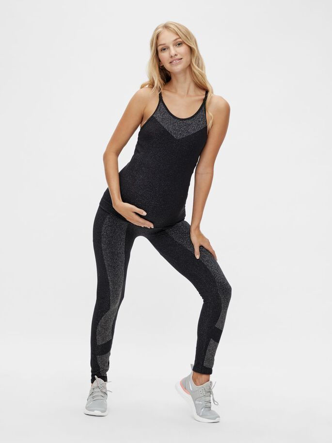 MLGLITTER ACTIVE MATERNITY TOP, Black, large